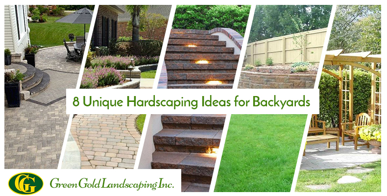 8 Unique Hardscaping Ideas for Backyards - Green Gold Landscaping Inc