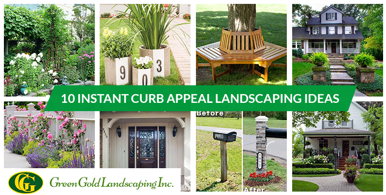 Curb Appeal Ideas Front Porch Archives Green Gold Landscaping Inc