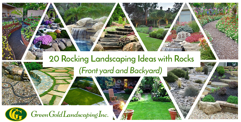 20 Rocking Landscaping Ideas with Rocks (Front Yard + Backyard)