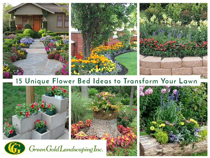 15 Unique Flower Bed Ideas For Lawn
